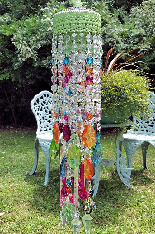 Jeweled Bohemian Antique Crystal Wind Chime