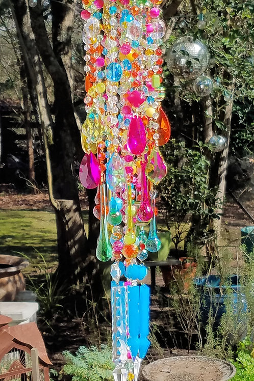 Multi Color Crystal Wind Chime