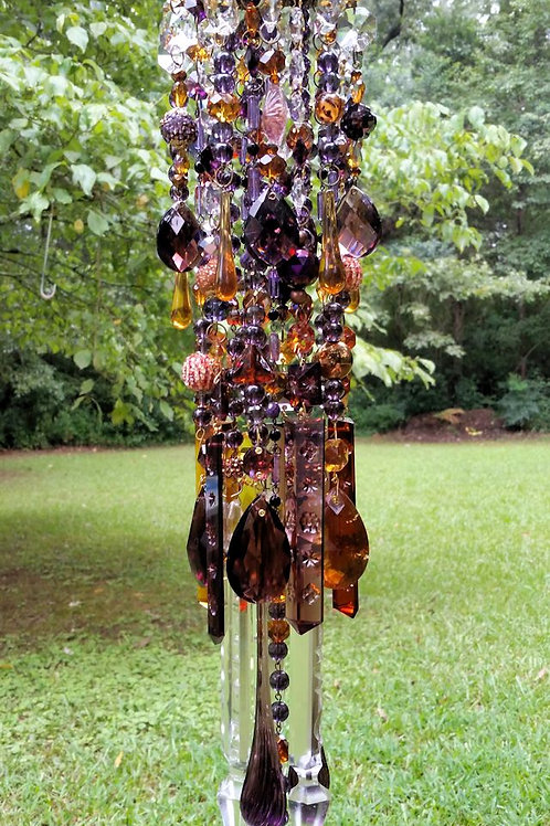 Autumn Bliss Antique Crystal Wind Chime