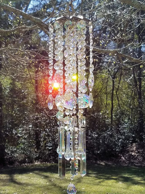 Iridescent Antique Crystal Wind Chime