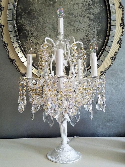 Antique Six Light Cherub Candelabra