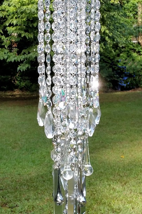 Silver Crystal Antique Wind Chime