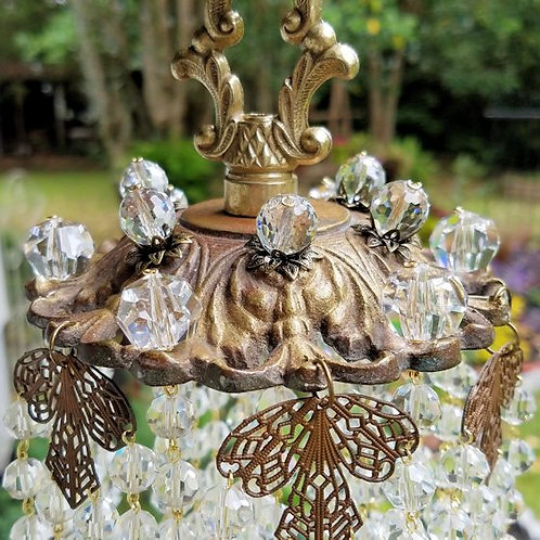 Art Deco Antique Crystal Wind Chime