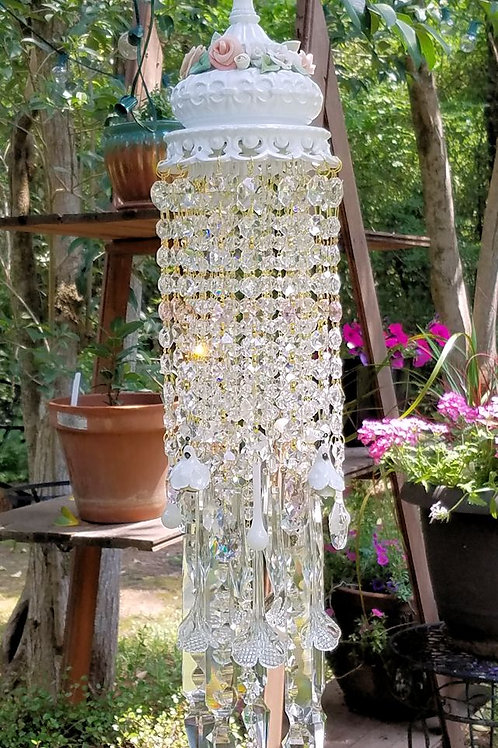 Roses Antique Crystal Wind Chime