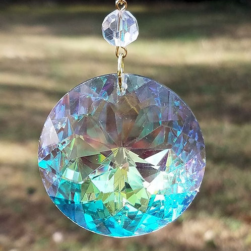 Aurora Borealis Sun Disk Crystal Sun Catcher
