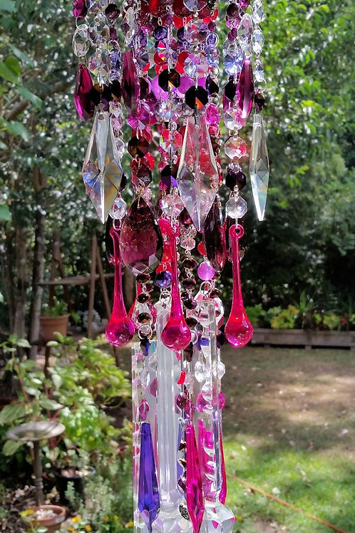 Fruits and Flowers Antique Crystal Wind Chime