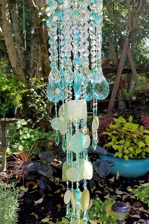 Crystal and Capiz Wind Chime