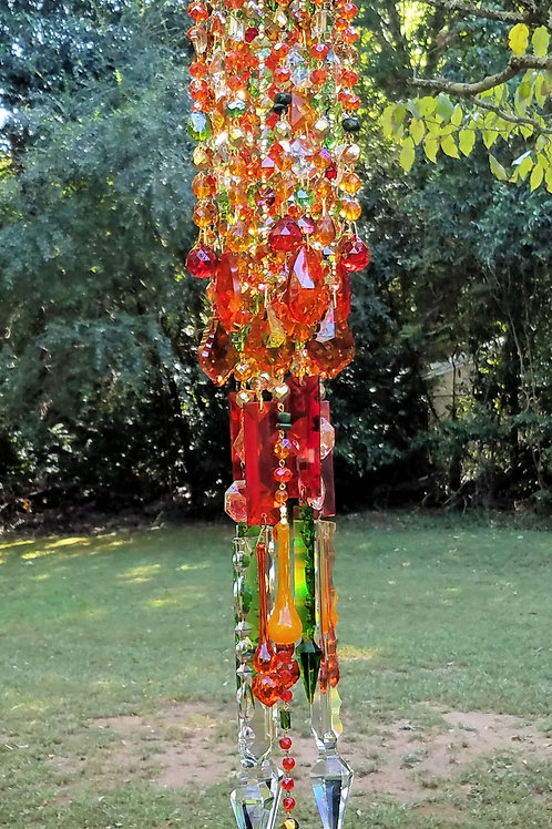 Autumn Colors Crystal Wind Chime