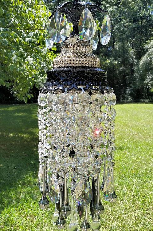 Jewel Encrusted Glam Petite Crystal Chandelier