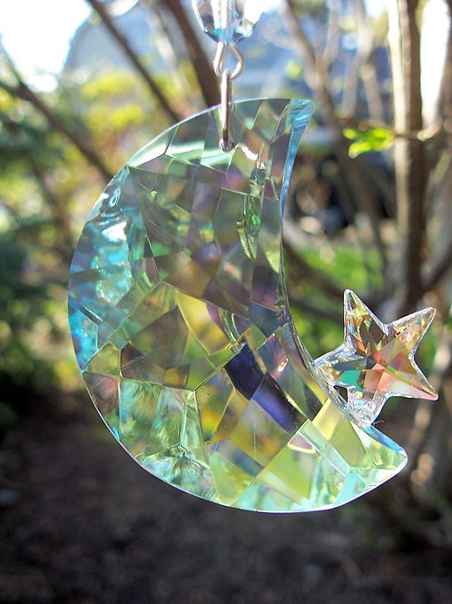 Crystal Sun and Moon Suncatcher