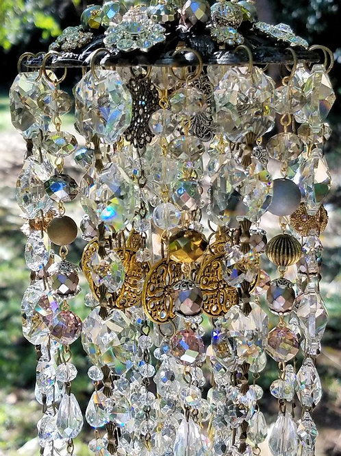 Gold and Silver Antique Crystal Wind Chime