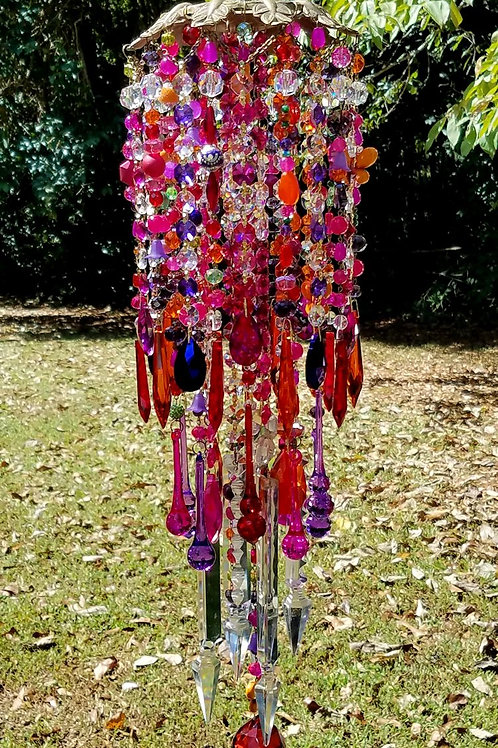 Vibrant Jewels Crystal Wind Chime