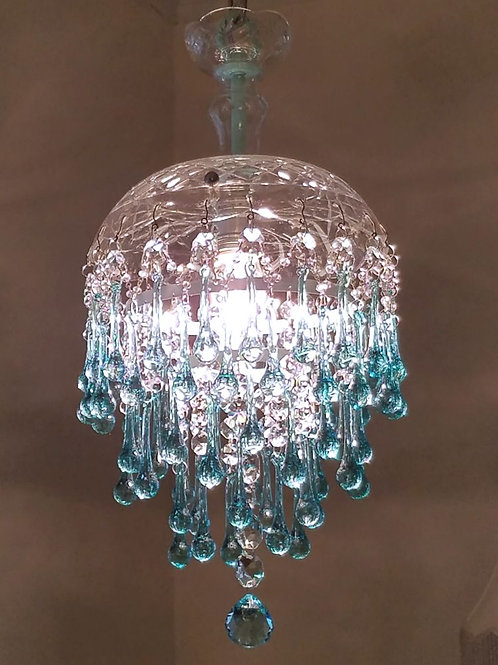 Aqua Waterfall Pendant Chandelier
