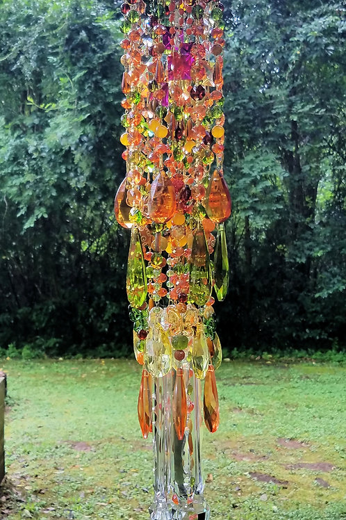Autumn Antique Crystal Wind Chime