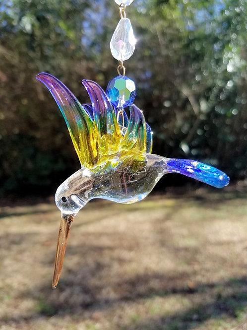 Multi Color Hummingbird Sun Catcher