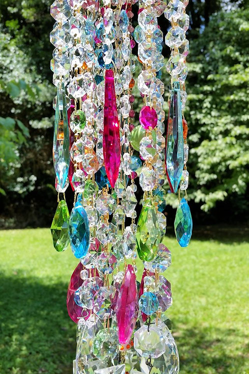 Summer Gypsy Bohemian Antique Crystal Wind Chime