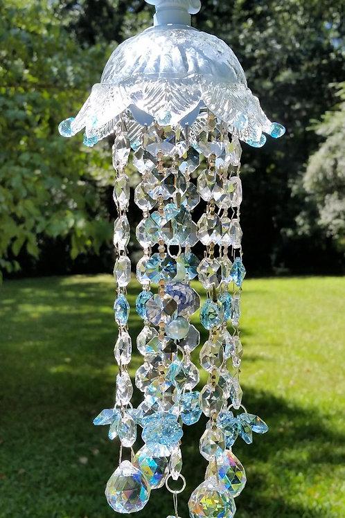 Baby Blue Crystal Sun Catcher