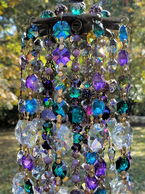 Peacock Antique Crystal Wind Chime