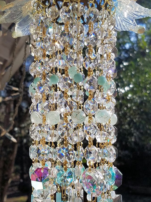 For Jennie ~ Antique Opalescent Crystal Wind Chime
