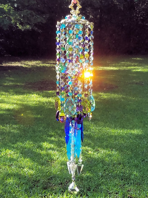 Bohemian Antique Crystal Wind Chime
