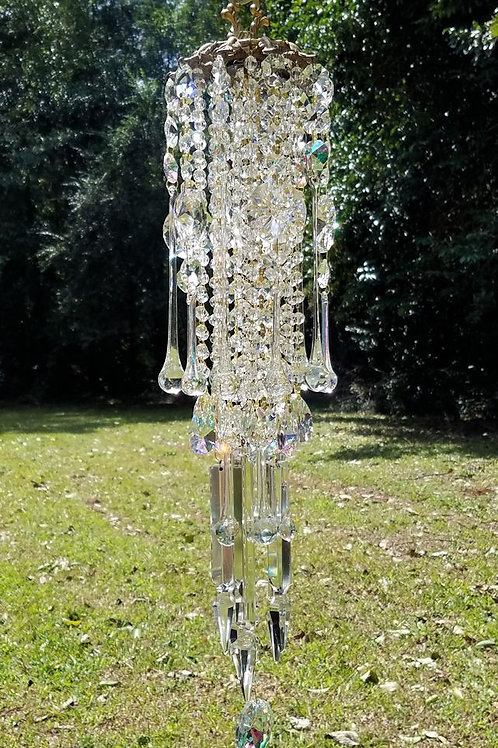 Antique Clear Crystal Wind Chime