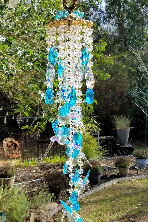 Hummingbirds Crystal Wind Chime/Sun Catcher