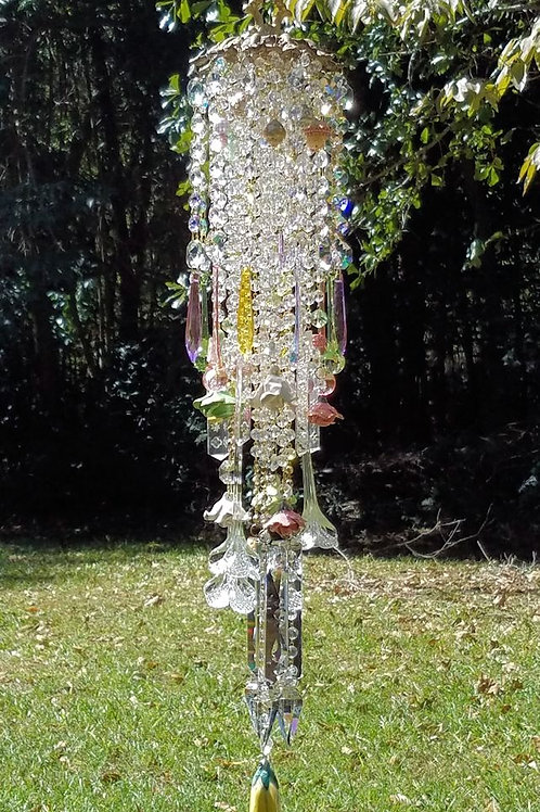 Wildflowers Antique Crystal Wind Chime