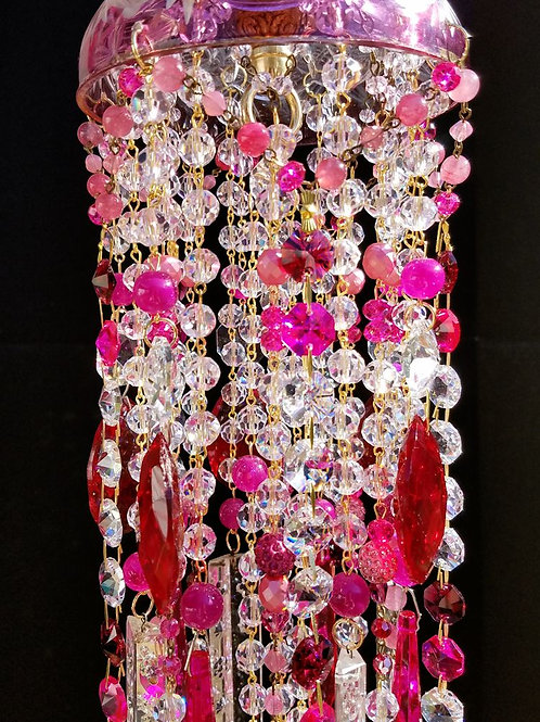 Ruby and Hot Pink Crystal Wind Chime