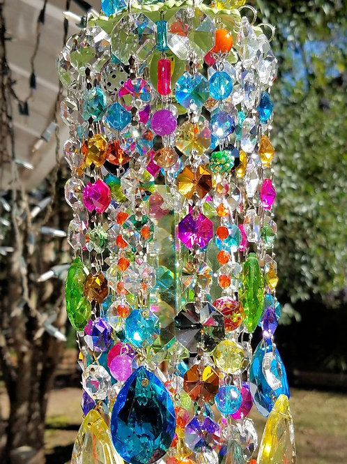 Multicolored Antique Crystal Wind Chime
