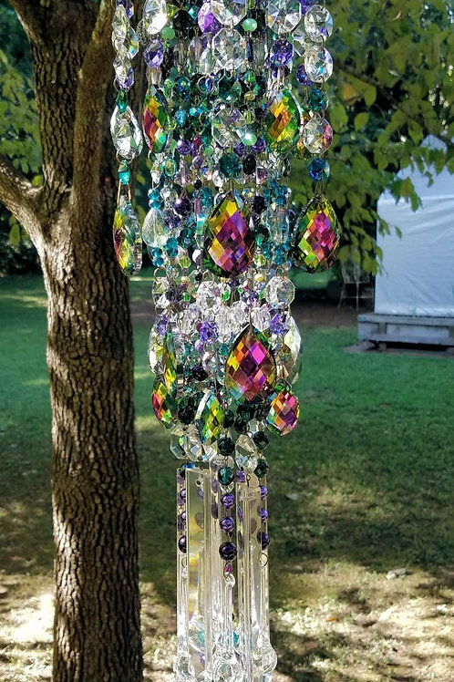 Autumn Magic Antique Crystal Wind Chime