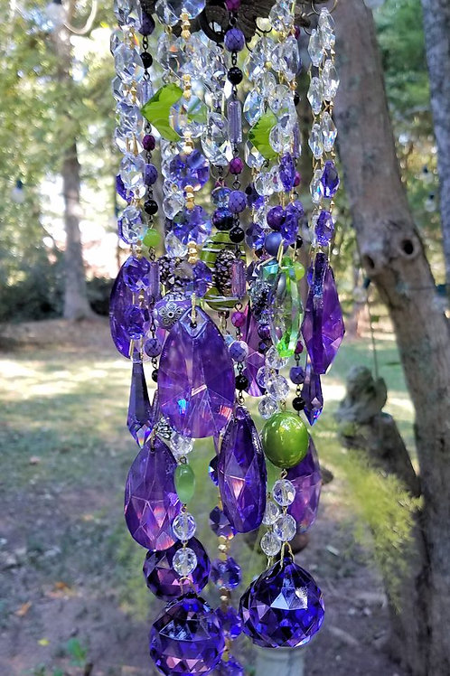 Violet and Lime Crystal Sun Catcher