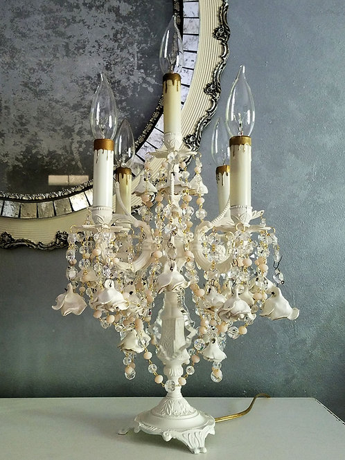 French Cream Roses Candelabra