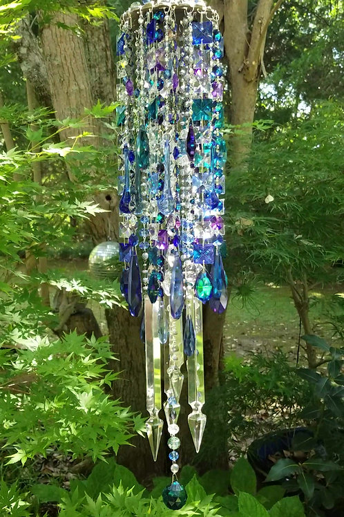 Blues Antique Crystal Wind Chime