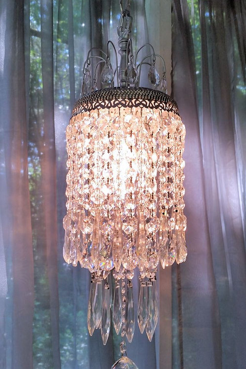 Jeweled Silver Shimmer Petite Crystal Chandelier
