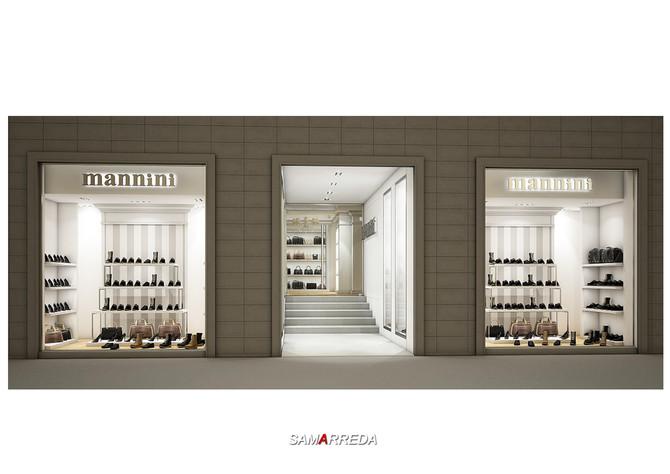 Rendering negozio Nannini per SAMARREDA S.r.l.