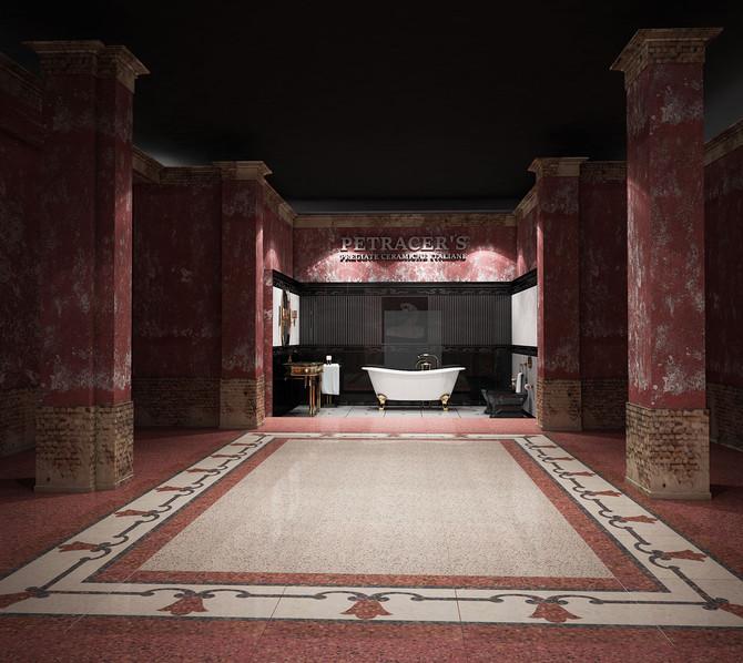Simulazioni di pavimenti in ceramica per PETRACER