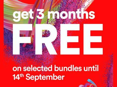 Virgin Media - Limited-Time Fibre Broadband & Phone M100 Offer