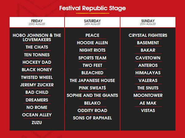 The Reading Festival Lineup