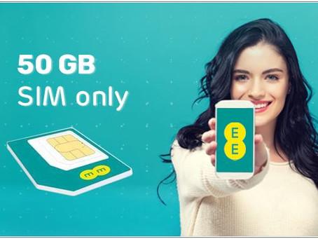 EE 50GB Sim only plan