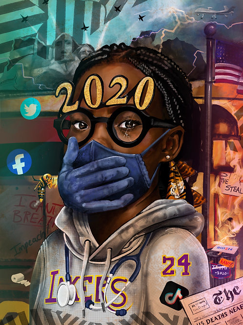 Portrait of 2020 Print