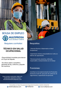 Técnico en Salud Ocupacional
