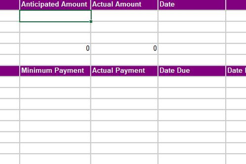 Purple Budget Template