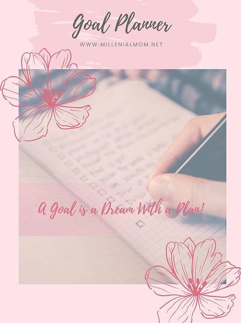 Millenial Mom Printable Goal Planner