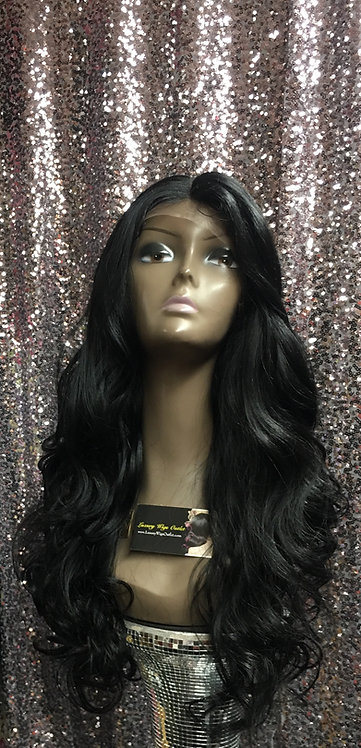 "20"" Human Hair Blend Lace Frontal Wig"