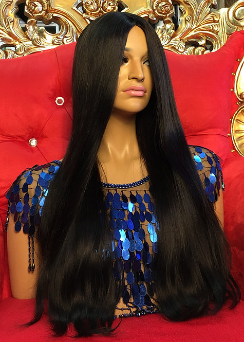 "21"" 100% European Remy Human Hair Lace Part Wig"