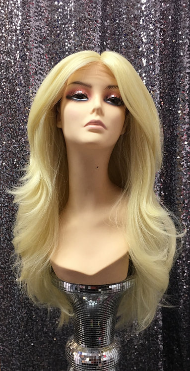 """15"""" Human Hair Blend Deep Lace Part Lace Frontal Wig"""