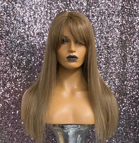 "17"" 100% European Human Hair Full Lace Hand Tied Wig"