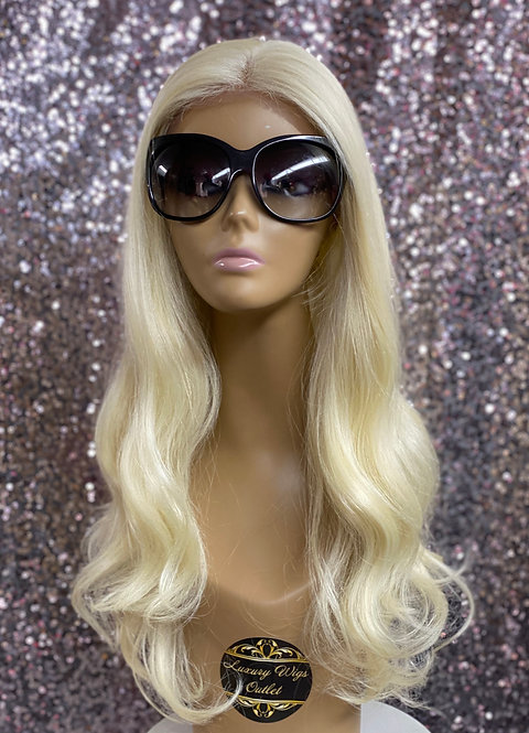 "18"" Human Hair Blend Full Lace Wig"