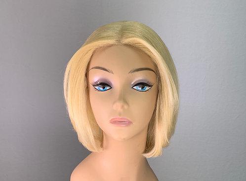 "11"" 100% Human Hair Deep Lace Part Frontal Wig"