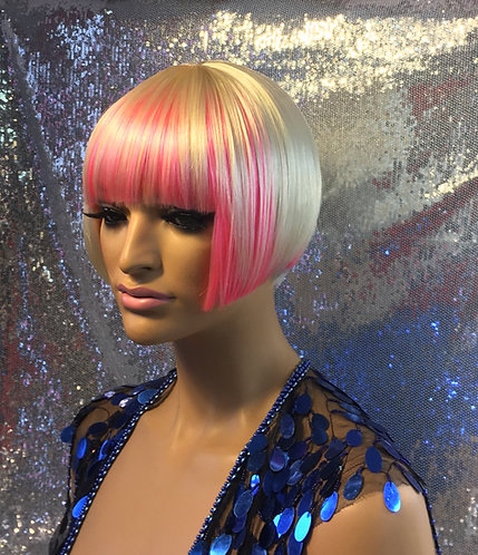 "8.5"" Synthetic Full Cap Wig"